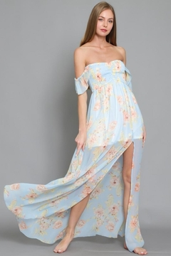 AAKAA Off-Shoulder Floral Maxi - Product List Image