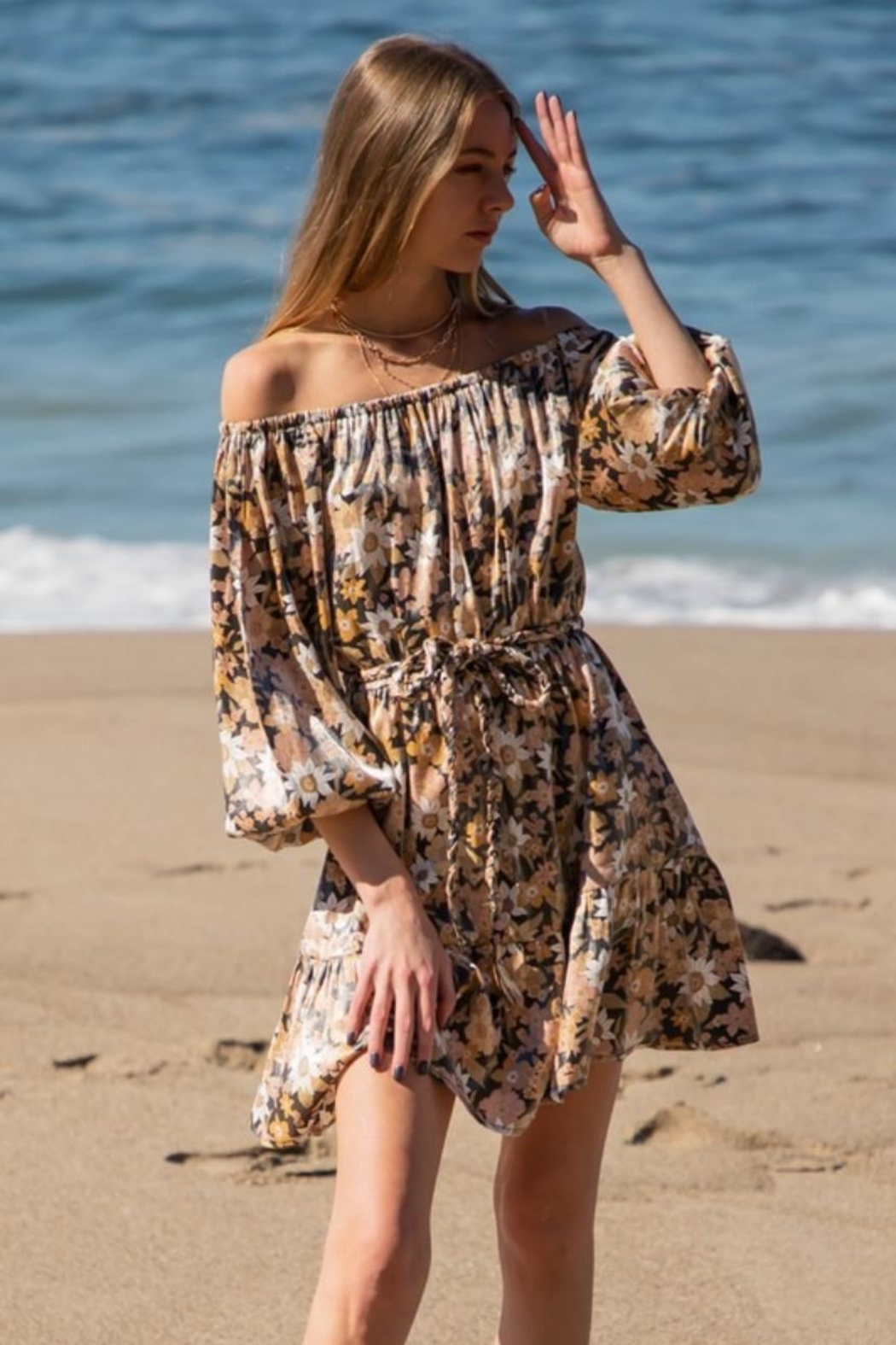 AAKAA Off-Shoulder Floral Mini - Main Image