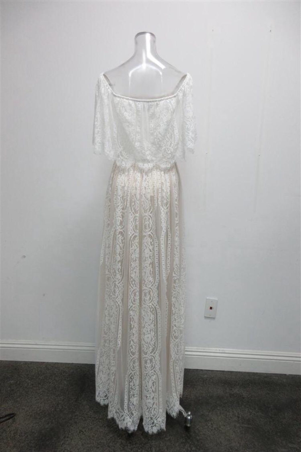 AAKAA Off-Shoulder Lace Maxi - Front Full Image