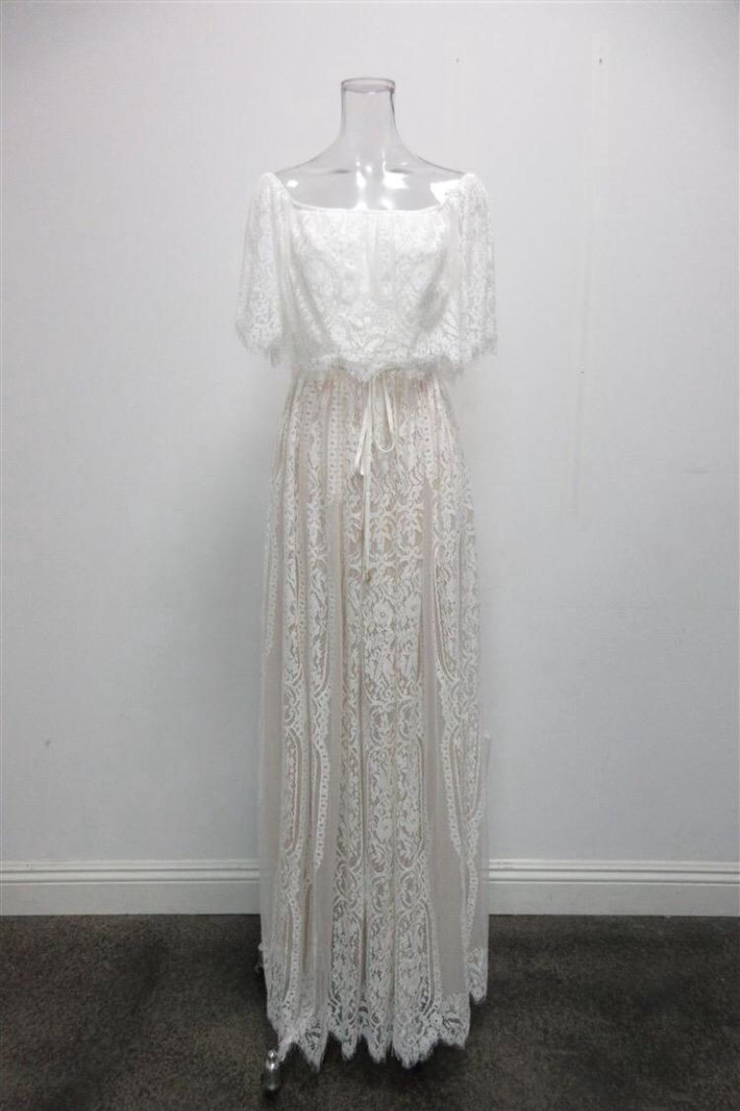 AAKAA Off-Shoulder Lace Maxi - Main Image