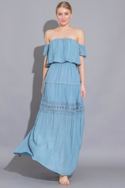 AAKAA Off Shoulder Maxi - Front cropped