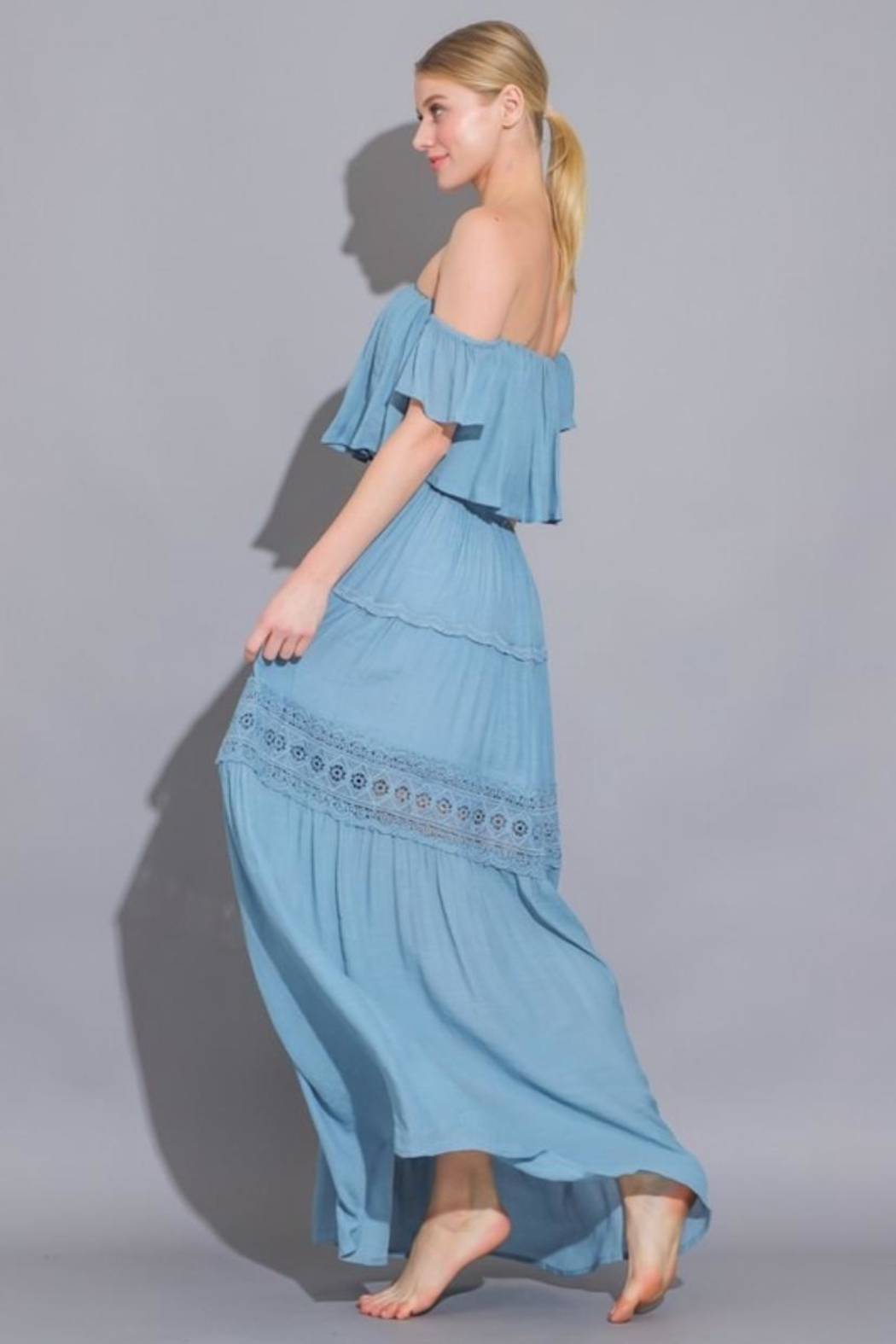 AAKAA Off Shoulder Maxi - Side Cropped Image