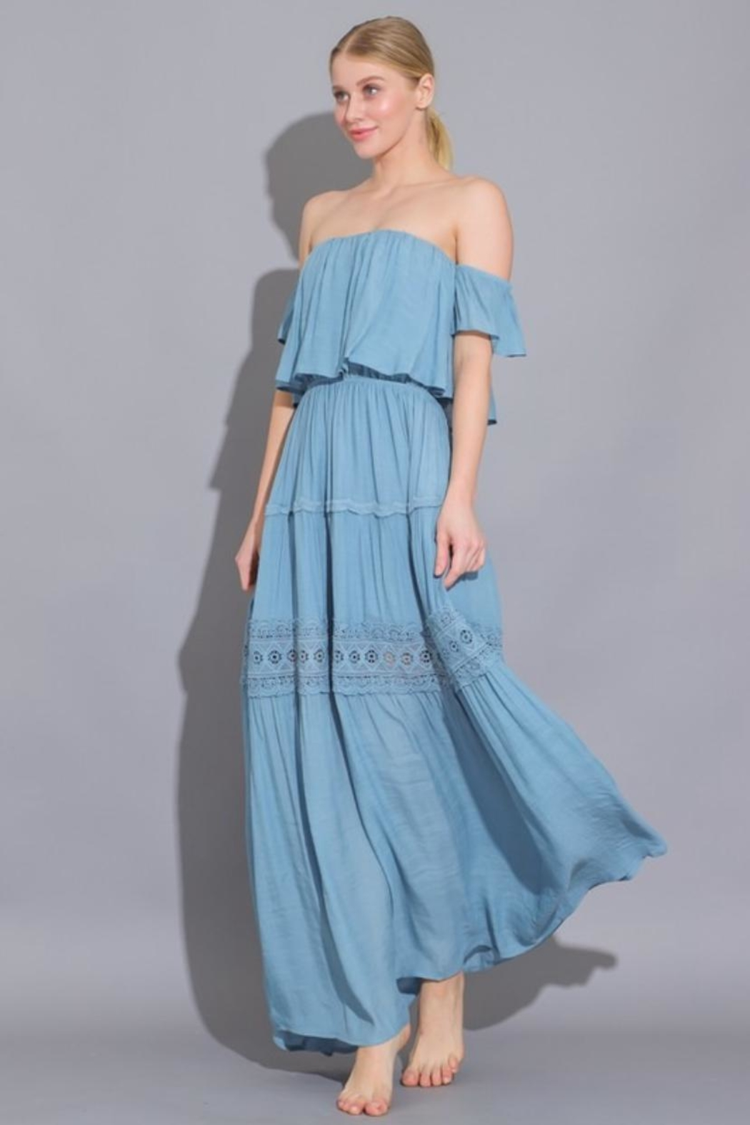 AAKAA Off Shoulder Maxi - Front Full Image