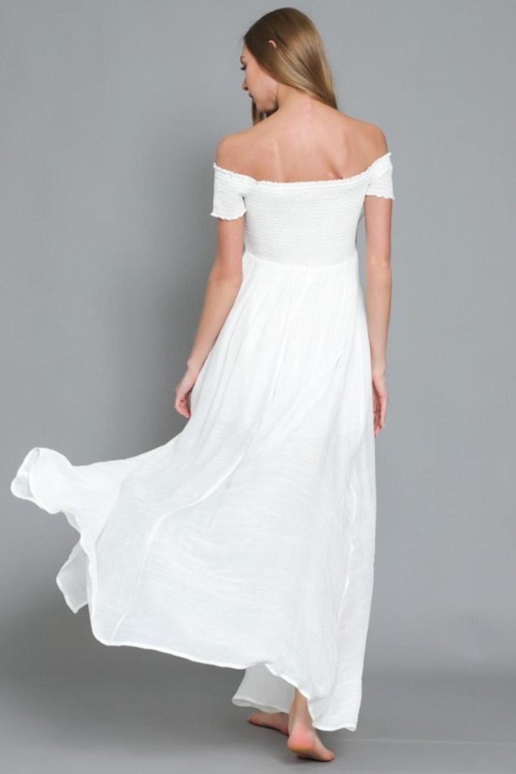 AAKAA Off-Shoulder Maxi Dress - Side Cropped Image