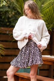 AAKAA Oversized Knitted Loose Sweater - Front full body
