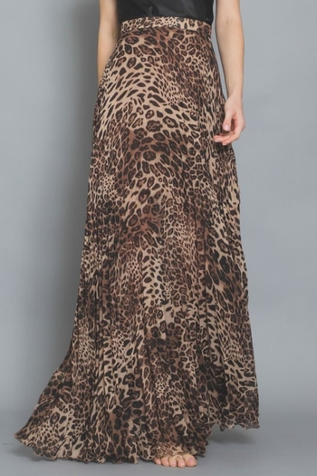 AAKAA Pleated Maxi Skirt from Los Angeles by Chikas — Shoptiques