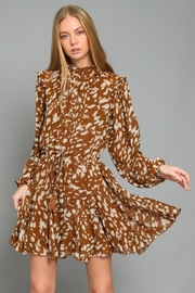 AAKAA Printed Button-Down Dress - Front full body