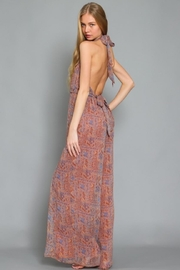 AAKAA Printed Halter Jumpsuit - Front full body