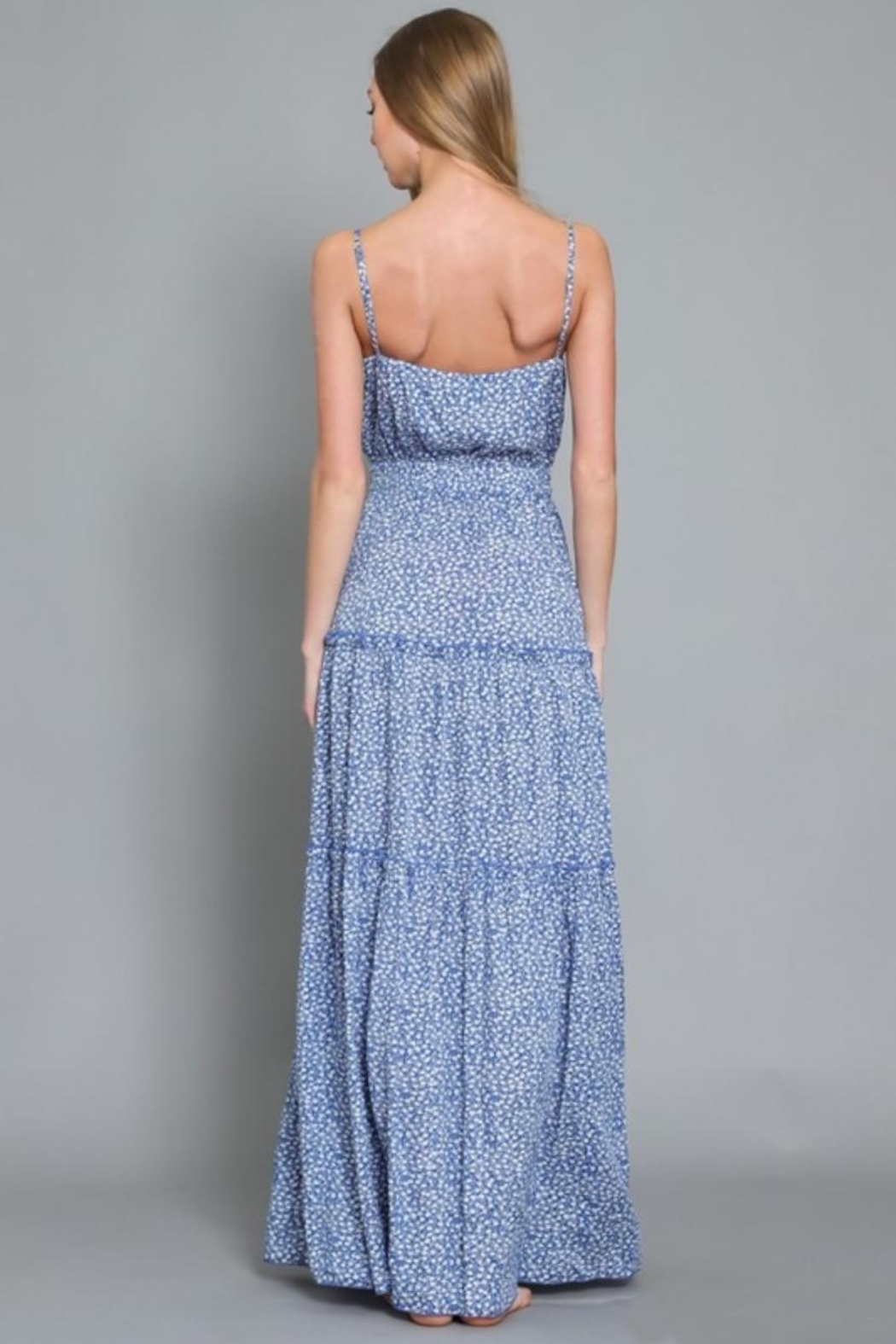 AAKAA Printed Maxi Dress - Back Cropped Image