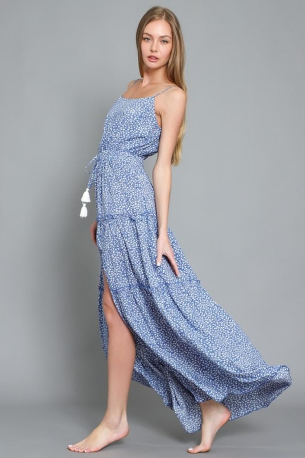 AAKAA Printed Maxi Dress - Side Cropped Image