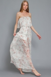 AAKAA Printed Tube Maxi Dress - Front cropped