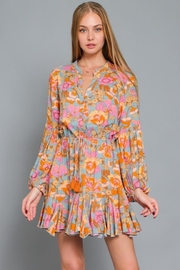 AAKAA Puff-Sleeve Floral Dress - Front cropped