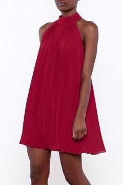 Shoptiques Product: Red Pleated Dress