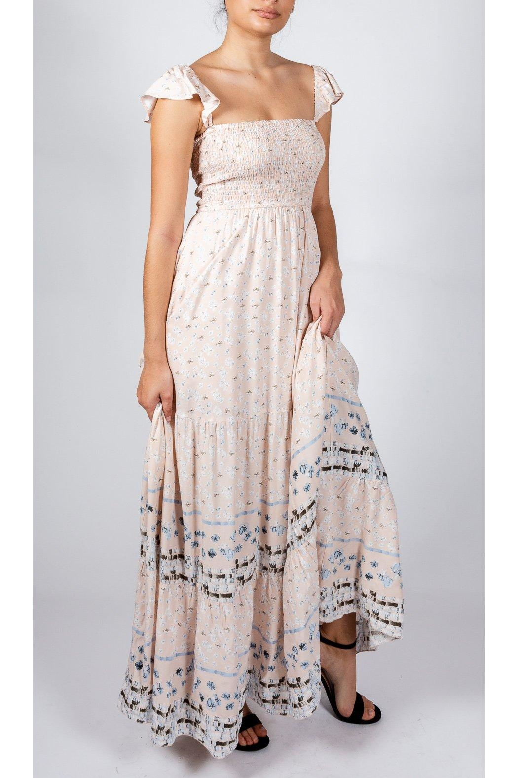 AAKAA Romantic Mixed-Print Gown - Front Full Image