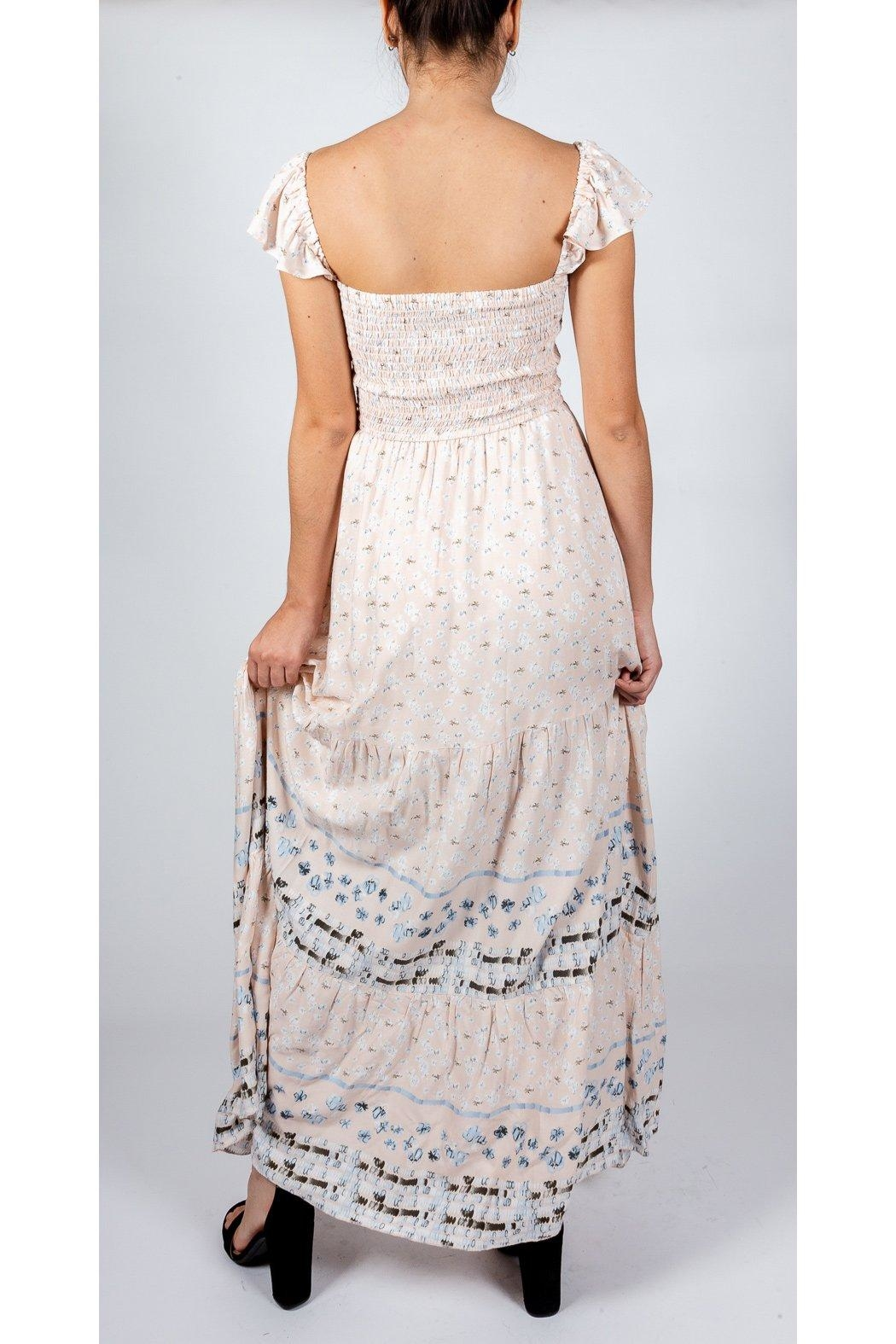 AAKAA Romantic Mixed-Print Gown - Side Cropped Image