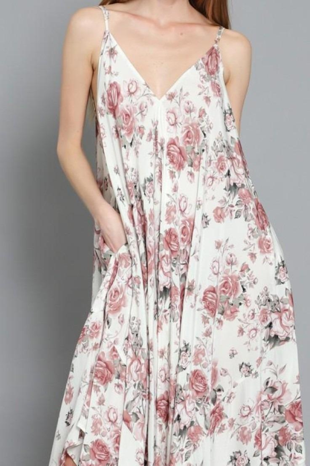AAKAA Rose Garden Jumpsuit - Back Cropped Image