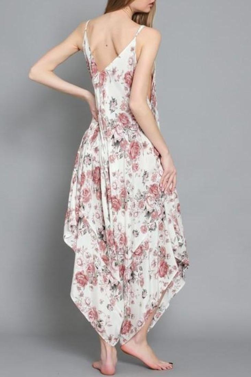 AAKAA Rose Garden Jumpsuit - Side Cropped Image