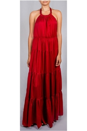 AAKAA Satin Tier Maxi-Dress - Product Mini Image