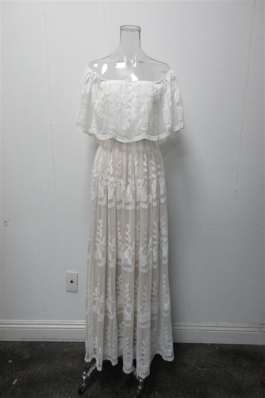 AAKAA Scalloped Lace Maxi - Main Image