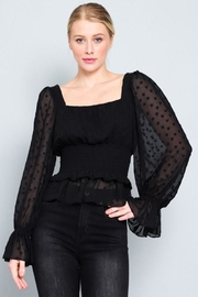 AAKAA Sheer Polka-Dot Blouse - Product Mini Image