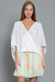 AAKAA Short Sleeve Surplice Top - Product Mini Image