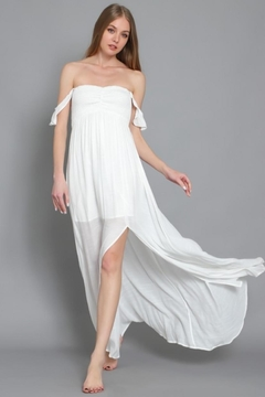 AAKAA Smocked Off-Shoulder Maxi - Product List Image
