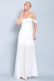 AAKAA Smocking Off-Shoulder Maxi - Front cropped