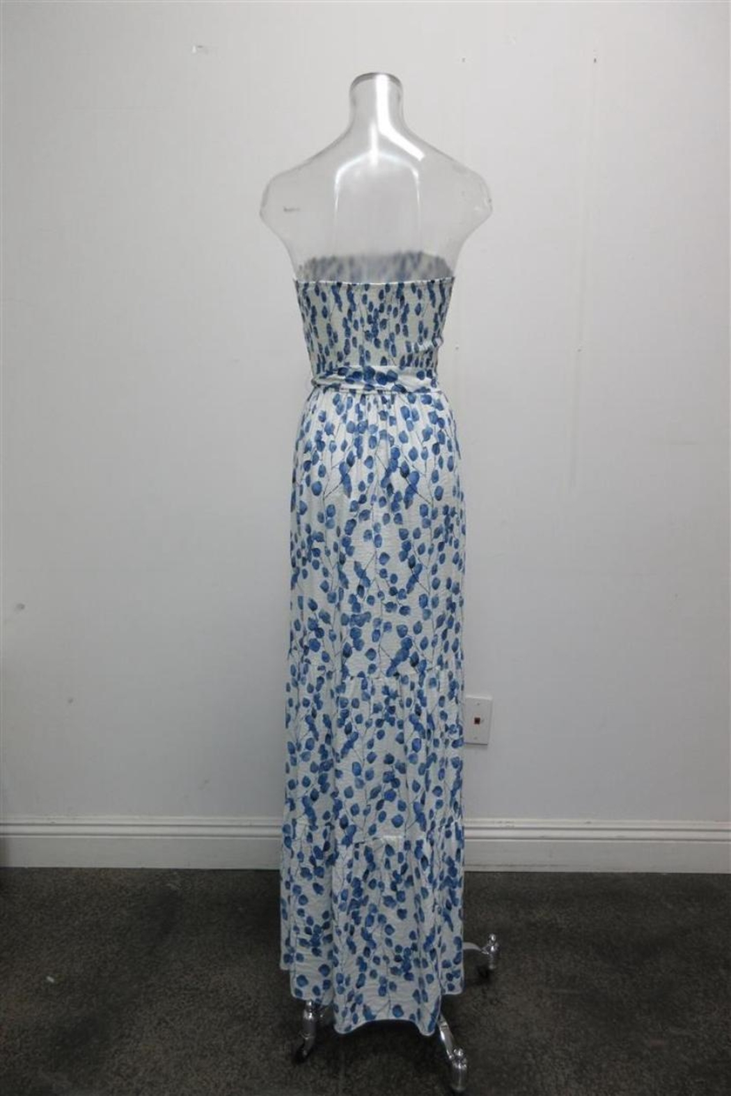 AAKAA Strapless Leaves Maxi - Front Full Image