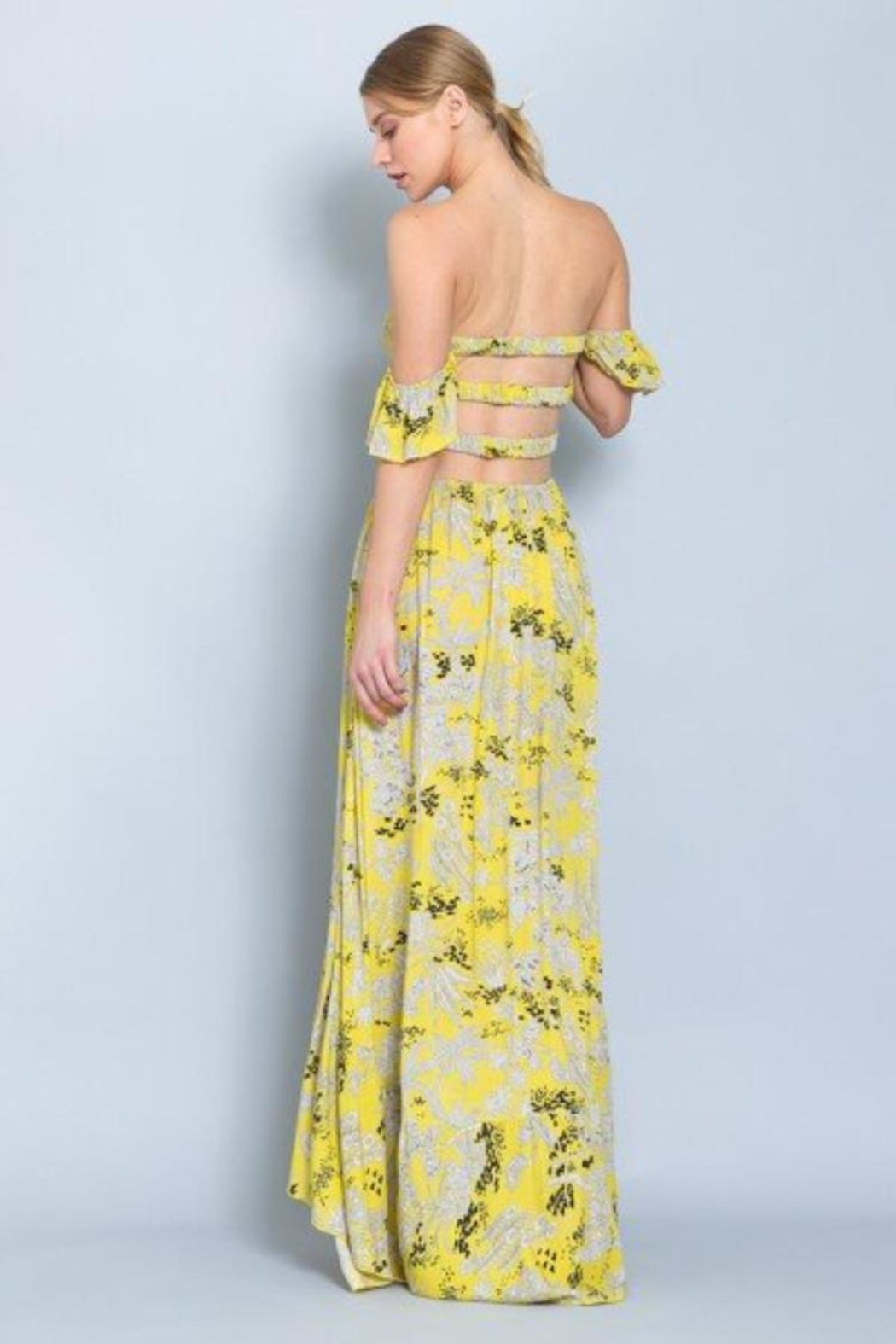 AAKAA Strapless Smocked Maxi-Dress - Side Cropped Image