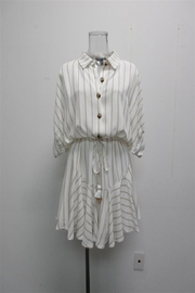 AAKAA Striped Button-Down Dress - Product Mini Image