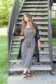 AAKAA Summertime Striped Jumpsuit - Front cropped