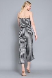 AAKAA Summertime Striped Jumpsuit - Back cropped