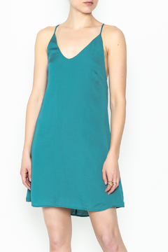 AAKAA Teal Satin Dress - Product List Image