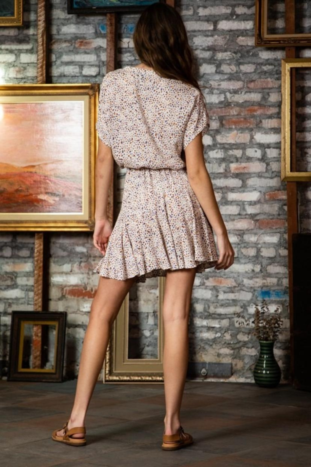 AAKAA Tie-Front Mini Dress - Side Cropped Image