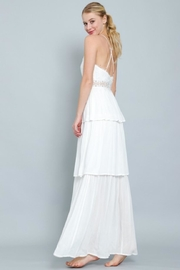 AAKAA Tiered Maxi Dress - Front full body
