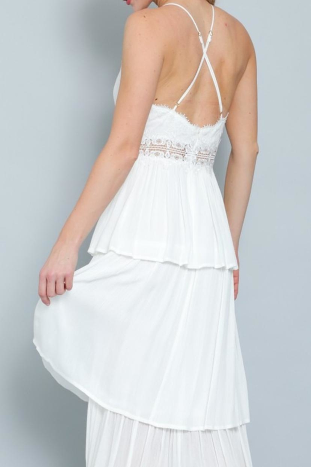 AAKAA Tiered Maxi Dress - Side Cropped Image