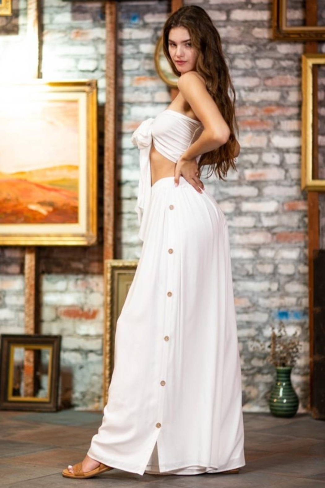 AAKAA Tube-Top Skirt Set - Side Cropped Image