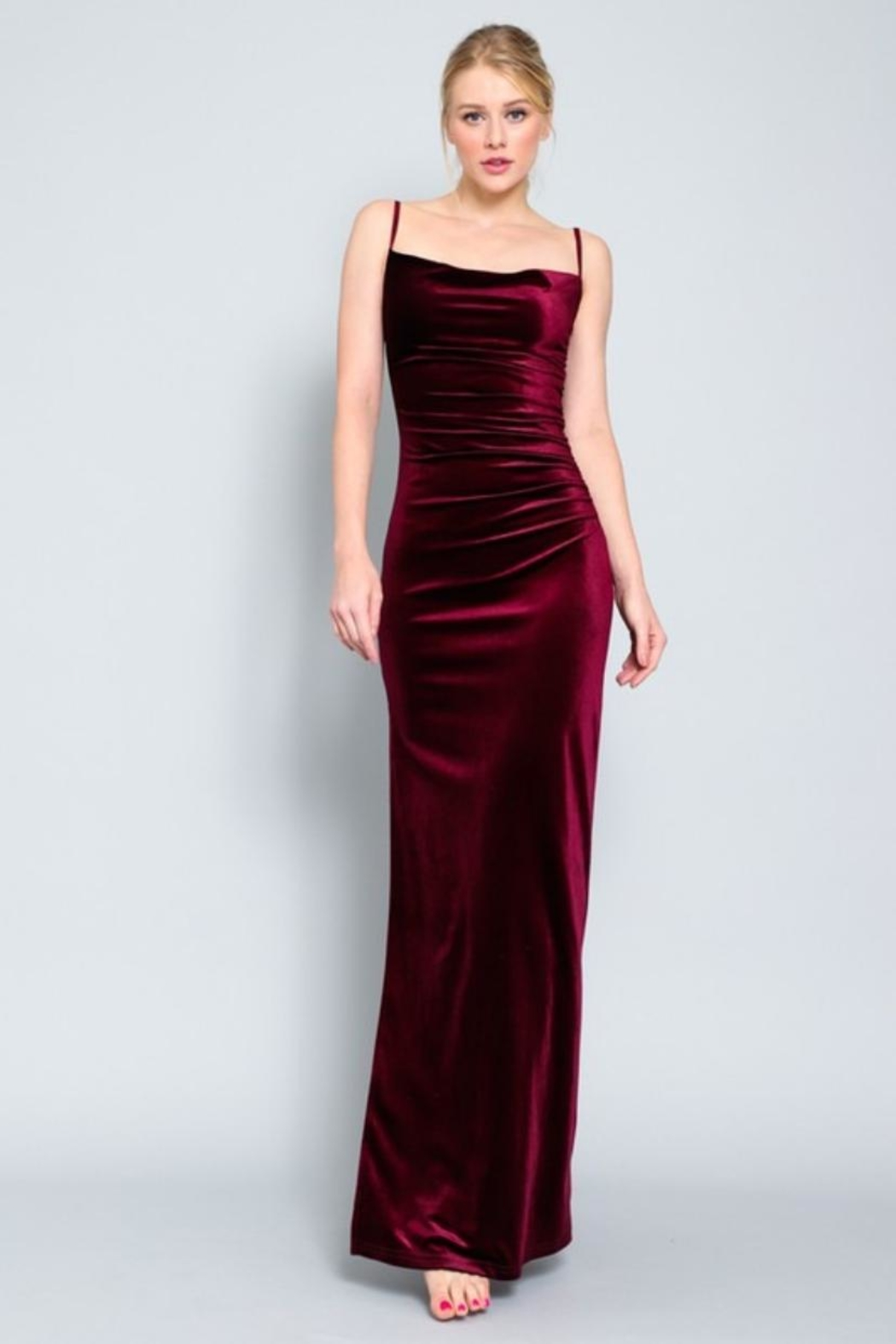 AAKAA Velvet Maxi Dress - Main Image