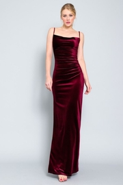 AAKAA Velvet Maxi Dress - Front cropped