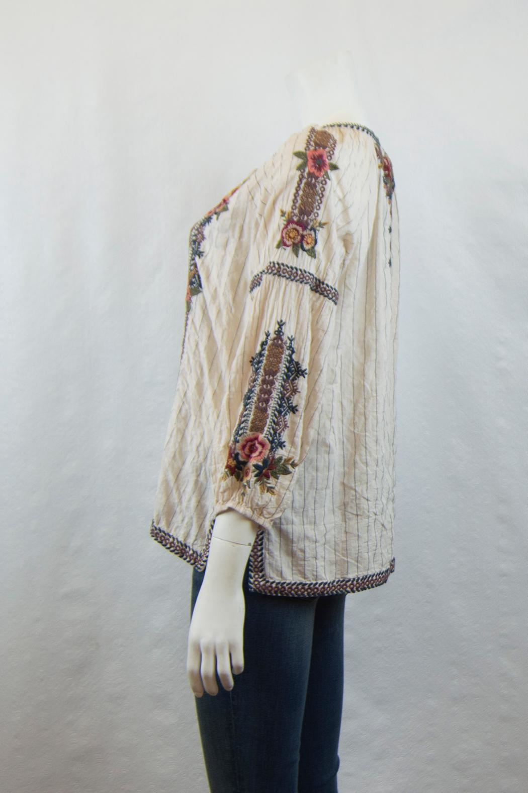 3J Workshop Aaliah Peasant Blouse - Front Full Image