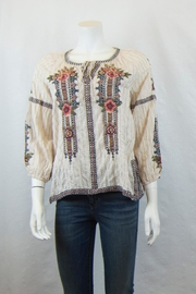 3J Workshop Aaliah Peasant Blouse - Front cropped