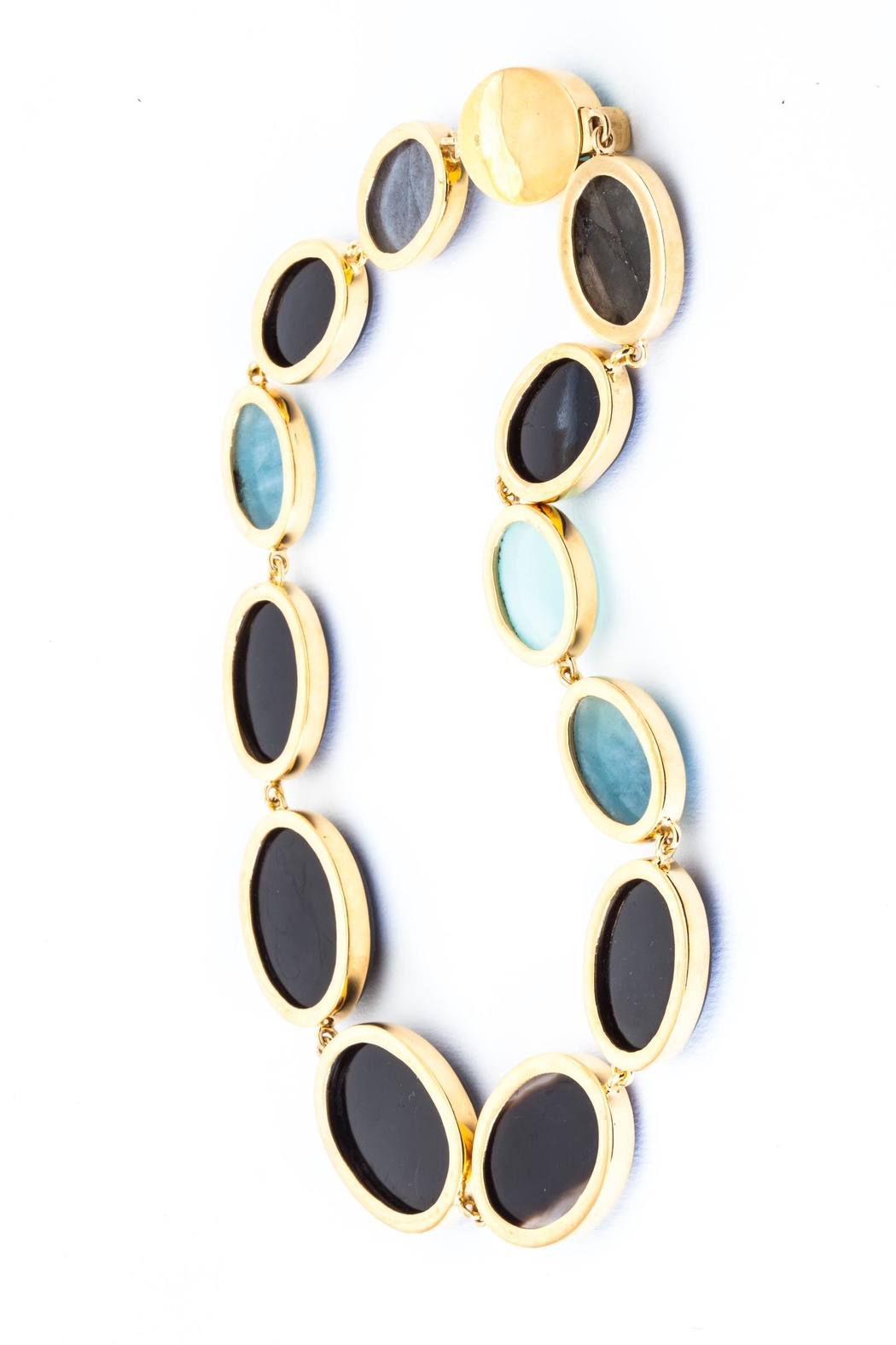 aaRaa Gemstone Collar Necklace - Side Cropped Image