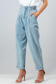 Aaron & Amber High Waisted Mom Jeans - Front cropped