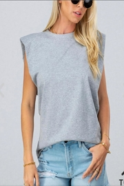 Aaron & Amber Padded Shoulder Top - Product Mini Image