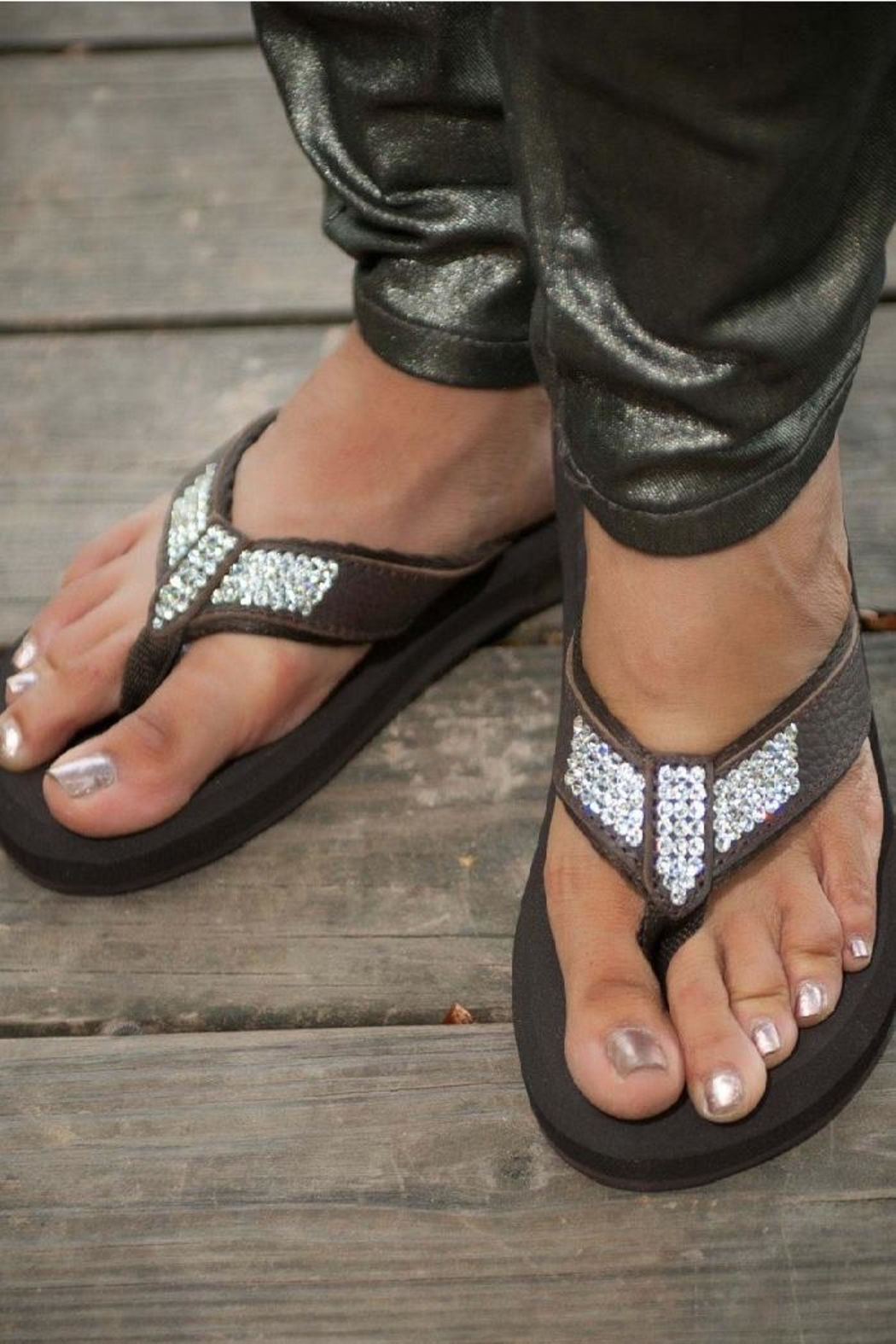 Glitterflops Ab Crystal Flipflops - Front Cropped Image