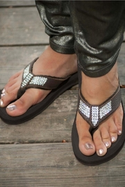 Glitterflops Ab Crystal Flipflops - Front cropped
