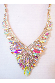 Sophia AB Rhinestone Statement Necklace Set - Product Mini Image