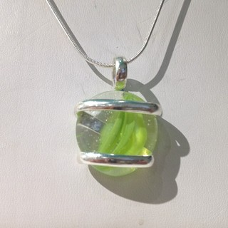 Shoptiques Product: Green Swirl Pendant Necklace