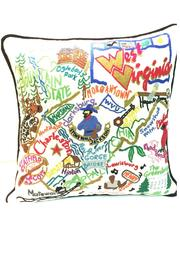 Cat Studio Embroidered Wv Pillow - Front full body