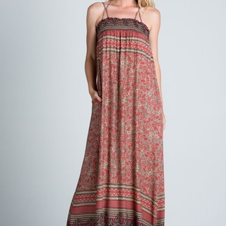 Red Paisley Maxi Dress - Instagram Image